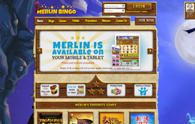 Merlin Bingo homepage